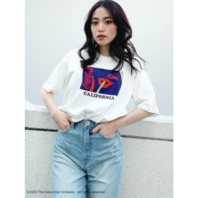 ジェイダ GYDA COCA-COLAグラフィックBIG Tシャツ (オフホワイト)