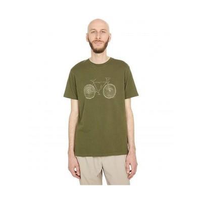 tentree メンズ 男性用 ファッション Tシャツ Elm Cotton Classic T-Shirt - Olive Night Green