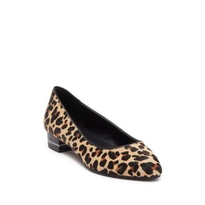 バンドリーノ レディース パンプス シューズ Leopard Print Faux Fur Block Heel Pump NAMPO