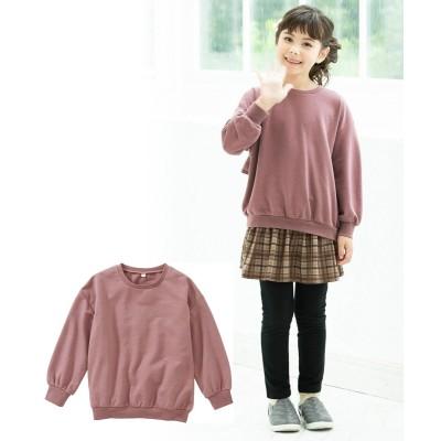 選べる♪あったか裏シャギー長袖デザイントレーナー(女の子 子供服 ジュニア服) (トレーナー・スウェット)Kids' Sweatshirts