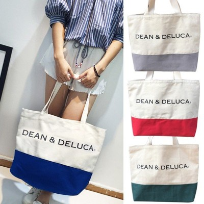DEAN&DELUCA ディーン&デルーカ トートバッグ 全4色 エコバッグ ナチュラル キャンバス  サブバッグ ショルダーバッグ