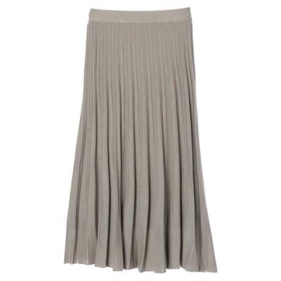 スカート プリーツニットスカート *●