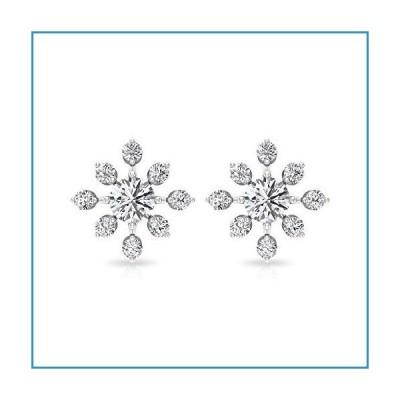 新品Dainty 0.91 Ct Moissanite Stud Earring, Vintage Sunburst Earring, Certified Gemstone Wedding Earring, Floral Statement Earring, Annive
