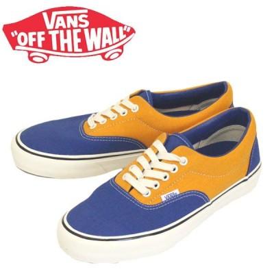VANS (ヴァンズ バンズ) VN0A3MUHWYS Era Sf エラ スニーカー (Salt Wash) True Blue/Cadmium Yellow VN217