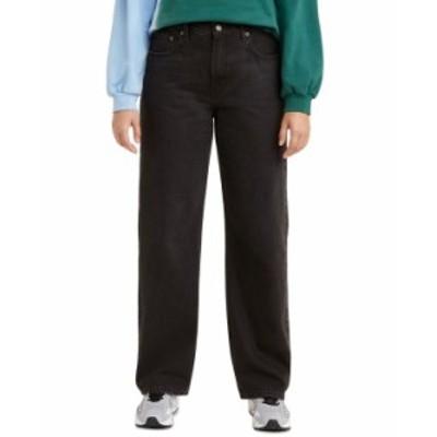 リーバイス レディース デニムパンツ ボトムス Straight-Leg Jeans Black Lightbeam