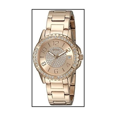 GUESS Women's U0779L3 Sporty Rose Gold-Tone Stainless Steel Multi-Function Watch with Date Dial and Pilot Buckle