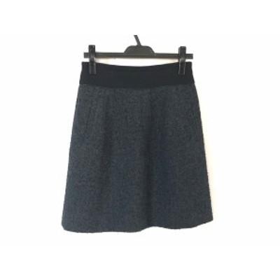 ヴィヴィアンタム VIVIENNE TAM スカート サイズ0 XS レディース - ネイビー×黒×グレー ひざ丈【中古】20200603