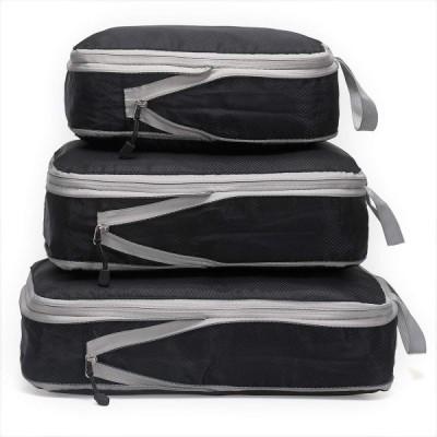 旅行圧縮バッグ 旅行用便利グッズ トラベルポーチ ファスナーで衣類収納バッグ 圧縮袋 出張 衣類仕分け 整理用 衣類スペース50%節約 簡単圧縮 大容量 軽量 防水