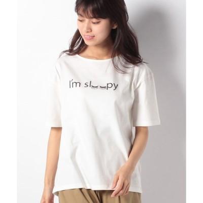 【グリーンパークス】Hunch ロゴ刺繍Tシャツ
