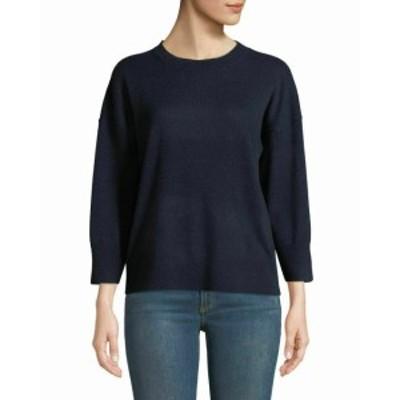 Equipment イクイップメント ファッション トップス EQUIPMENT Womens Navy Blue Size Medium M Crewneck Wool Sweater