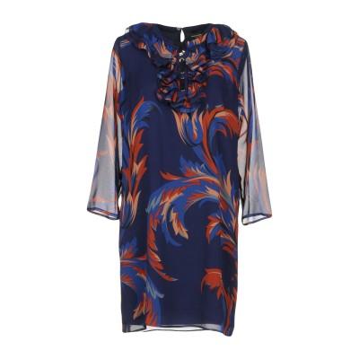 アトス ロンバルディーニ ATOS LOMBARDINI ミニワンピース&ドレス ダークブルー 40 100% シルク ミニワンピース&ドレス