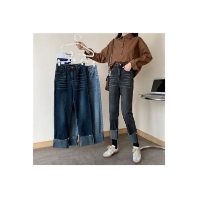 【送料無料】ハイウエストのジーンズ 女性 ルース 年 秋 西洋風 ファッション アン | 364331_A63750-1232990