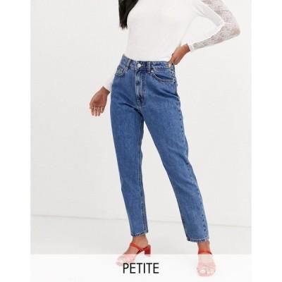 ヴェロモーダ Vero Moda Petite レディース ジーンズ・デニム ボトムス・パンツ high waist ankle grazer mom jean in medium blue ミディアムブルーデニム