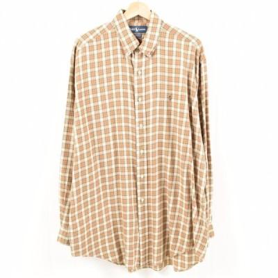 ラルフローレン Ralph Lauren 長袖 ボタンダウンチェックシャツ メンズXL 【中古】 【180920】 /wax1480
