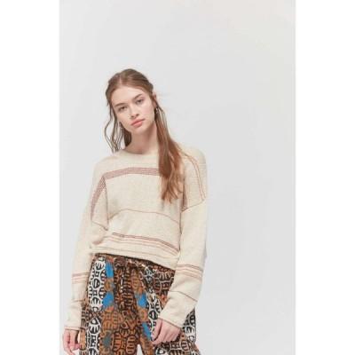 アーバンアウトフィッターズ Urban Outfitters レディース ニット・セーター トップス uo ellie striped boatneck sweater Neutral Multi