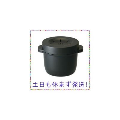 スケーター 電子レンジ スチーム ご飯メーカー ブラック 日本製 MWMR1
