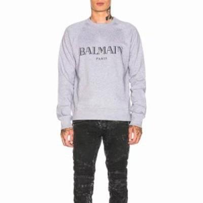 バルマン スウェット・トレーナー Logo Sweatshirt Grey