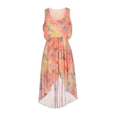 MAISON ESPIN ミニワンピース&ドレス あんず色 S ポリエステル 100% ミニワンピース&ドレス