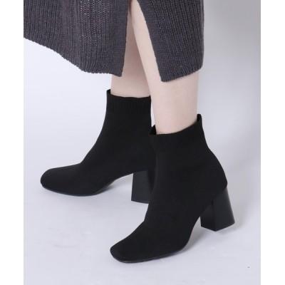 EVOL / 【EVOL】ニットスクエアブーツIP9344 WOMEN シューズ > ブーツ