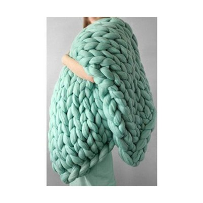 YXYH Chunky Knit Blanket Yarn Arm Knitting Polyester Eco-Friendly Knit Throw Blanket Stroller Blanket for Boys and Girls Sofa Couch Blanket (Color : L