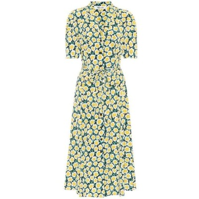 ダイアン フォン ファステンバーグ Diane von Furstenberg レディース ワンピース シャツワンピース Floral silk midi shirt dress Daisies Canteen