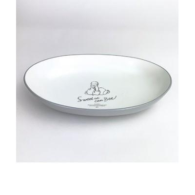 ディズニー プー カリー&パスタ皿 ふんわりプー GY お皿 食器 Disney くまのプーさん グレー グッズ 日本製  (MCOR)
