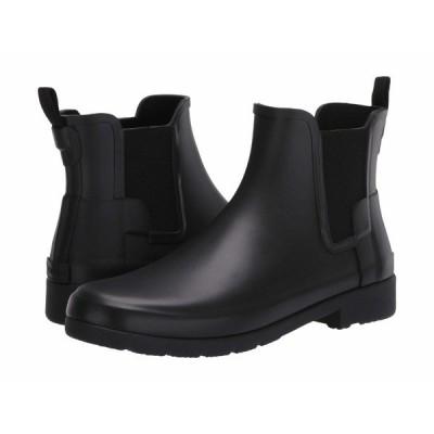 ハンター ブーツ&レインブーツ シューズ レディース Original Refined Chelsea Boots Black