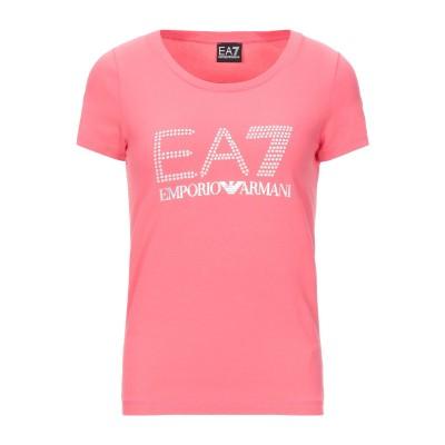 EA7 T シャツ コーラル S コットン 95% / ポリウレタン 5% T シャツ