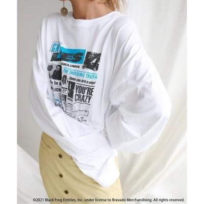 tシャツ Tシャツ SLOBE citron. Guns N Roses ロンTEE【洗濯機洗い可能】◆