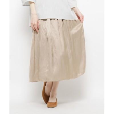 WORLD ONLINE STORE SELECT / ミモレ丈ギャザースカート WOMEN スカート > スカート