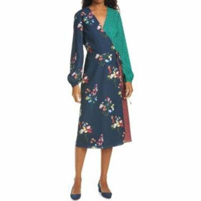 テッドベーカー TED BAKER LONDON レディース ワンピース ラップドレス ワンピース・ドレス Talissa Mix Print Long Sleeve Faux Wrap Dr