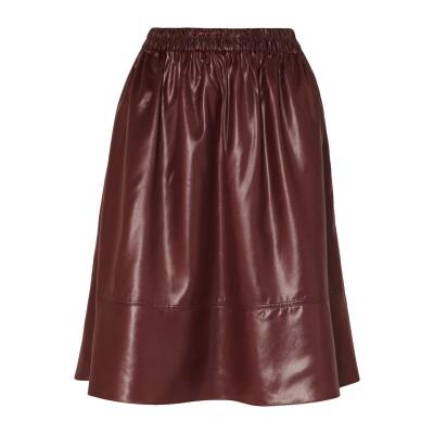 ティビ TIBI ひざ丈スカート ボルドー M ポリエステル 100% ひざ丈スカート