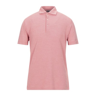 グラン サッソ GRAN SASSO ポロシャツ サーモンピンク 50 コットン 100% ポロシャツ