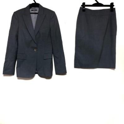 ヒューゴボス HUGOBOSS スカートスーツ サイズ36 M レディース - グレー 3点セット【中古】20210318
