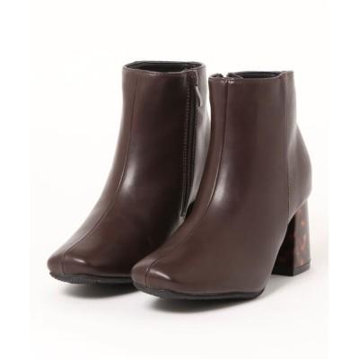 Mafmof / Realta(レアルタ) 防水べっ甲スクエアトゥ ブーツ WOMEN シューズ > ブーツ