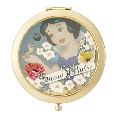コンパクトミラー 丸型 かわいい 化粧鏡 持ち運び コンパクト鏡 おしゃれ 白雪姫 コンパクトミラー