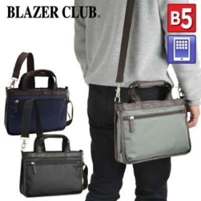 ショルダーバッグ トートバッグ メンズ B5 タブレット対応 横型 手提げ スリム 細マチ 黒 カーキ 紺 KBN26679 ブレザークラブ BLAZER CLU
