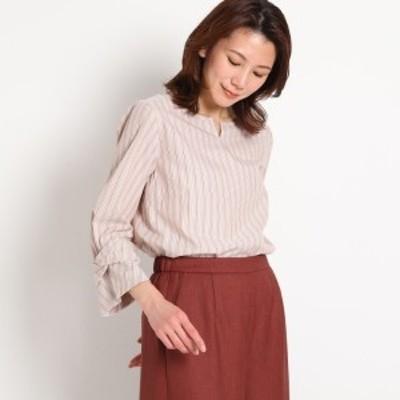 スーナウーナ(SunaUna)/【洗える】ストライプブロードシャツ