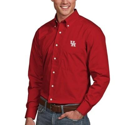 アンティグア メンズ シャツ トップス NCAA Dynasty Long-Sleeve Woven Shirt Houston Cougars