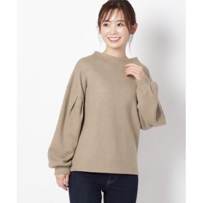 THE SHOP TK / もちもちニットソー袖タックトップス WOMEN トップス > Tシャツ/カットソー