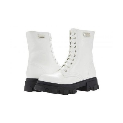Bebe べべ レディース 女性用 シューズ 靴 ブーツ レースアップ 編み上げ Oprah - Winter White