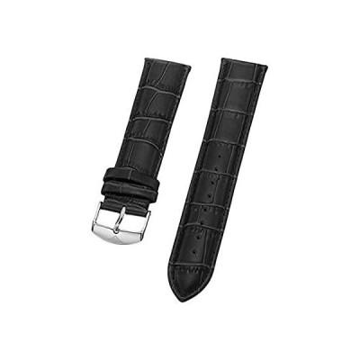 特別価格 Stuhrling Original Mens 22mmブラックレザー時計ストラップwithステンレススチールバックルSt。165b2.331554 並行輸入品