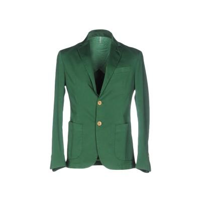 DOMENICO TAGLIENTE テーラードジャケット グリーン 54 コットン 96% / ポリウレタン® 4% テーラードジャケット