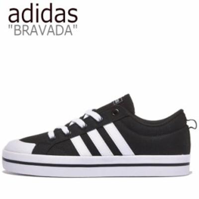 アディダス スニーカー adidas メンズ レディース BRAVADA ブラバダ BLACK ブラック WHITE ホワイト FV8085 シューズ