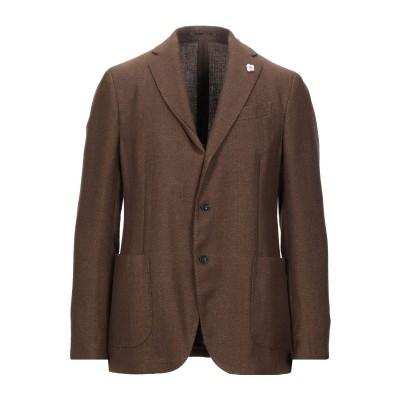 ラルディーニ LARDINI テーラードジャケット カーキ 52 ウール 50% / リネン 50% テーラードジャケット