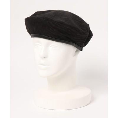 帽子 ゼブラプリントベレー帽