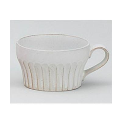 和食器 美濃焼 粉引ガラスマットシェイプスープ 片手スープマグカップ