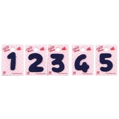 わくわくワード(紺) (お名前数字ワッペン・12345)  (お名前 ワッペン おなまえ アップリケ