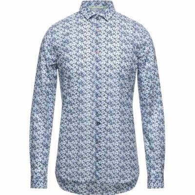 センス SSEINSE メンズ シャツ トップス patterned shirt Dark blue