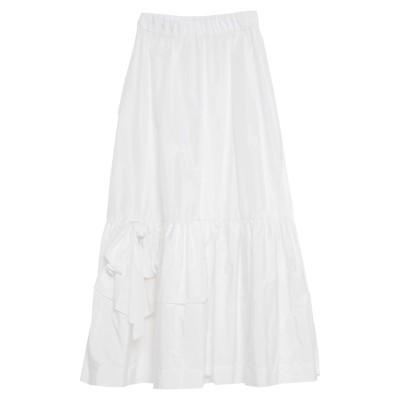パロッシュ P.A.R.O.S.H. ロングスカート ホワイト XXS ポリエステル 100% ロングスカート